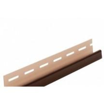 Планка J-trim Альта-Профиль Т-15 коричневая